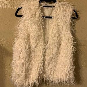 Faux Mongolian wool vest.